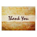 Schöne 1 Korinther 13 danken Ihnen, - V1 zu Grußkarten