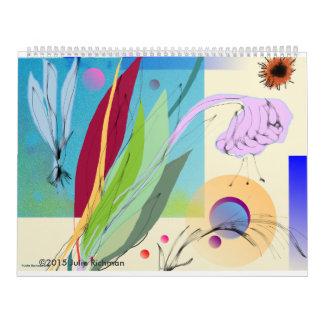 Schöne abstrakte Natur Abreißkalender