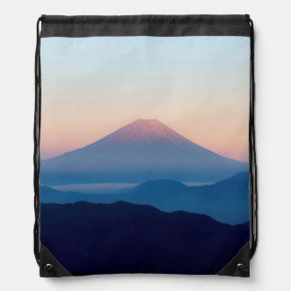 Schöne Ansicht der Fujisan, Japan, Sonnenaufgang Sportbeutel
