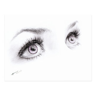 Schöne Augen, die unbedeutende Kunst Postkarte