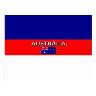 Schöne Australien-Flagge färbt Postkarte