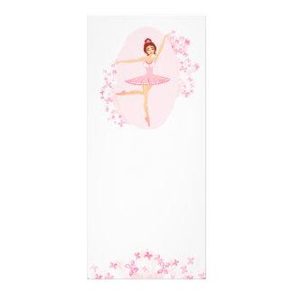 Schöne Ballerina Gestell-Karte Werbekarte