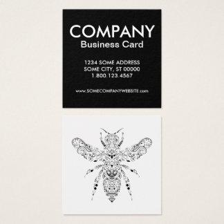 schöne Biene Quadratische Visitenkarte