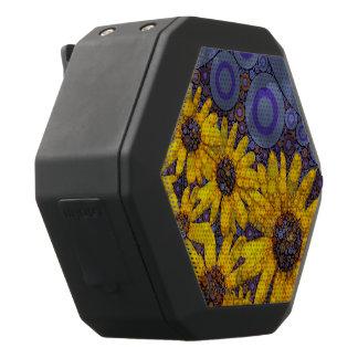 Schöne blaue gelbe Sonnenblumen abstrakt Schwarze Bluetooth Lautsprecher