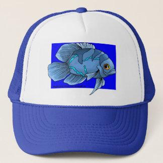Schöne blaue tropische Oscar-Fische Truckerkappe