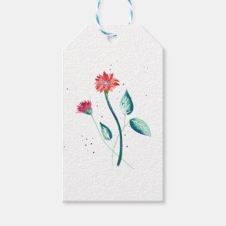 Schöne Blume Geschenkanhänger