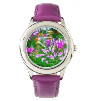 Schöne Blumen-Entwurfs-Uhr Armbanduhr