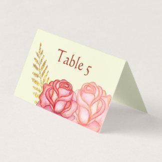 Schöne BlumenPlatzkarte Platzkarte