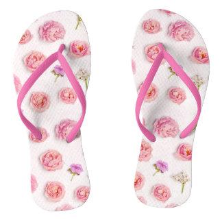 Schöne Blumenzusammensetzung Flip Flops
