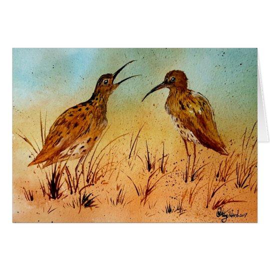 Schöne Brachvogeltiervogel-Grußkarten Grußkarte
