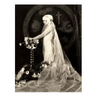 Schöne Braut-Franzose-Postkarte Postkarte