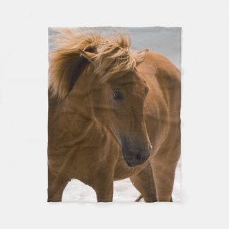 Schöne Brown-PferdeFleece-Decke Fleecedecke