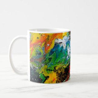 Schöne bunte abstrakte Kunst-Entwurfs-Kaffee-Tasse Tasse