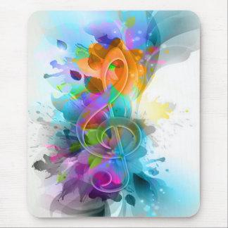 Schöne bunte und coole Spritzermusikanmerkung Mousepad