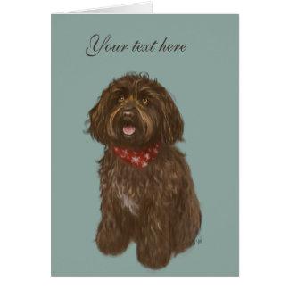 Schöne Darcey Labradoodle Liebe Karte