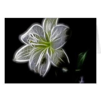 Schöne elektrische weiße Lilie Grußkarte