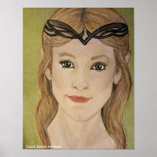 Schöne Elf-Prinzessin durch Carol Zeock Poster