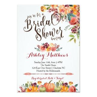 Schöne FalFloral Brautparty-Einladung, Baby Karte
