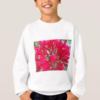 Schöne fantastische rote Blumen Sweatshirt