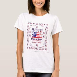 Schöne fantastische Wahl-Flaggen-Farbe Hillary USA T-Shirt
