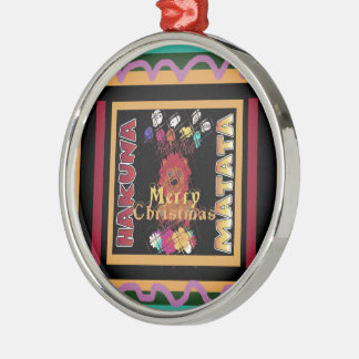 Schöne fröhliche WeihnachtenHakuna Matata späteste Rundes Silberfarbenes Ornament