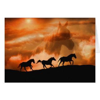 Schöne geistige PferdeBeileids-Karte mit Gedicht Grußkarte