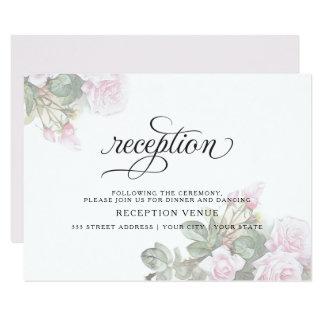Schöne gemalte rosa Rosen BarefootBride™ Karte