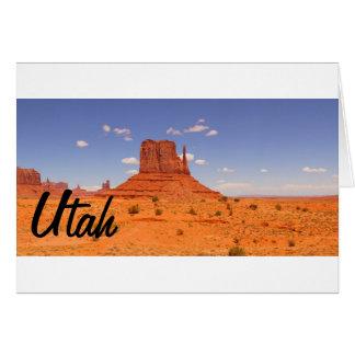 Schöne gemalte Wüste Utahs Felsformation Karte
