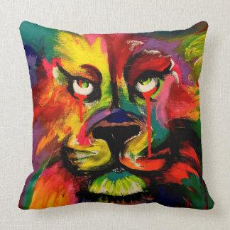 Schöne hell farbige Löwemalerei Kissen