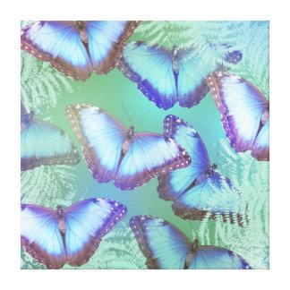 Schöne helle Schmetterlinge Leinwanddruck
