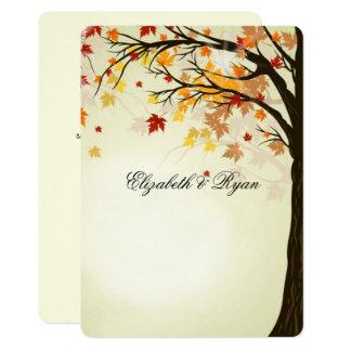 Schöne Herbstfarben, Herbst-Hochzeit 12,7 X 17,8 Cm Einladungskarte
