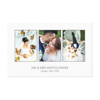 Schöne Hochzeits-Foto-Collage Leinwanddruck