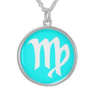 Schöne Jungfrau-Sterlingsilber-cyan-blaue Sterling Silberkette