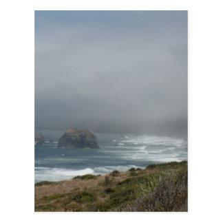 Schöne Kalifornien-Küsten-Landschaft durch den Postkarte