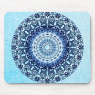 Schöne Kobalt-Blau-Mandala-Mausunterlage Mousepads