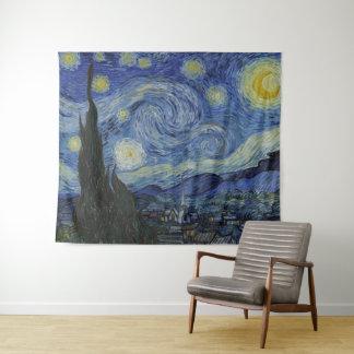 Schöne Kunst sternenklare NachtVincent van Goghs Wandteppich