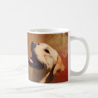 Schöne Labrador-Retriever-Porträt-Malerei Kaffeetasse