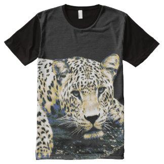 Schöne Leopard-Grafik T-Shirt Mit Bedruckbarer Vorderseite