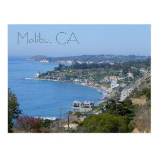 Schöne Malibu-Küsten-Postkarte! Postkarte