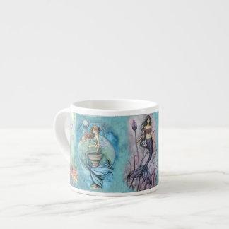 Schöne Meerjungfrau Espressotasse