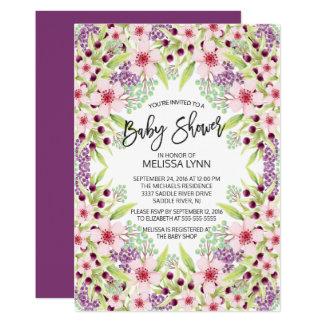 Schöne moderne Blumenmädchen-Babyparty laden ein 12,7 X 17,8 Cm Einladungskarte