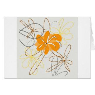 Schöne Natur-Dekorations-Blumenvektor Grußkarte