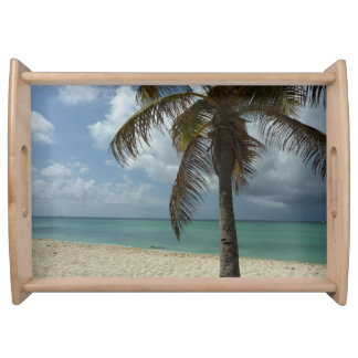 Schöne Natur-Szene Aruban Strand-I Tablett