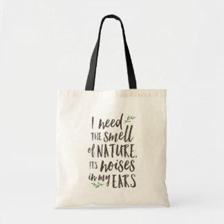 Schöne Natur-Typografie-Taschen-Tasche Tragetasche