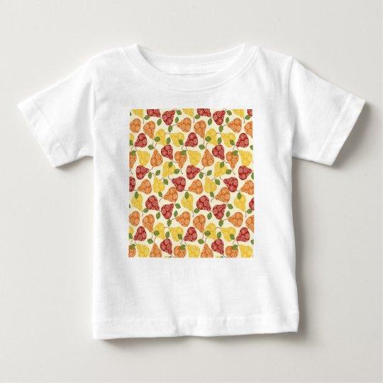 Schöne niedliche Birnen in den Herbstfarben Baby T-shirt