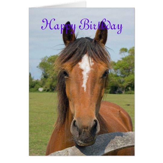 Schöne Pferdekopf custo Geburtstagskarte Grußkarte