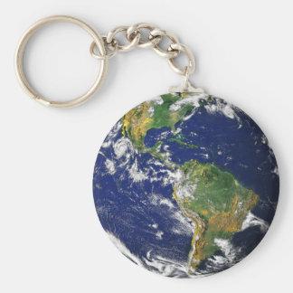 Schöne Planeten-Erde Schlüsselanhänger
