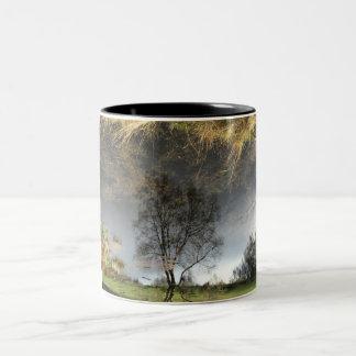 Schöne Reflexions-Fotografie-Baum-Tasse Zweifarbige Tasse