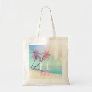 Schöne Retro Tasche der Strand-Paradies-Palme-|