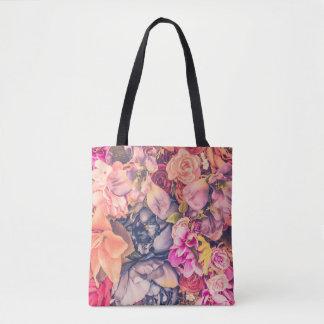 Schöne Retro Vintage Blumen-Muster-Taschen-Tasche